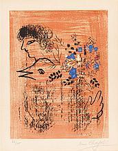 Marc Chagall – Bouquet à l'oiseau
