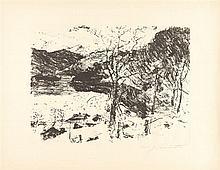 Lovis Corinth – Folge von 5 Bll.: Vorfrühling im Gebirge