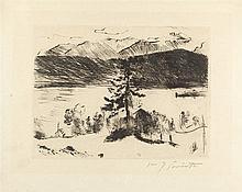 Lovis Corinth – Lärche am Walchensee aus: Der Walchensee (groß)