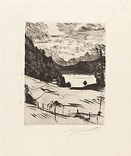 Lovis Corinth – Folge von 8 Bll.: Am Walchensee