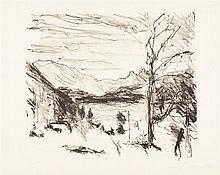 Lovis Corinth – Walchensee im Nebel