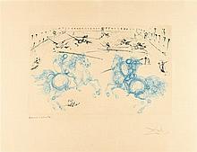 Salvador Dalí – Combat de cavaliers aus: Calderón. La Vie est un songe