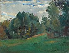 Friedrich Ahlers-Hestermann – Waldlandschaft