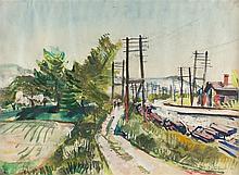 Rudolf Jacobi – Landschaft mit Bahnlinie