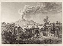 Ansicht der Stadt Pompeji.