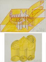 Dieter Roth – 2 Bll.: Widder – Messingtante (2 sheets: Ram – Brass aunt)