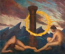 """Marc Eemans - """"La couronne de feu. De vuerkrans""""."""