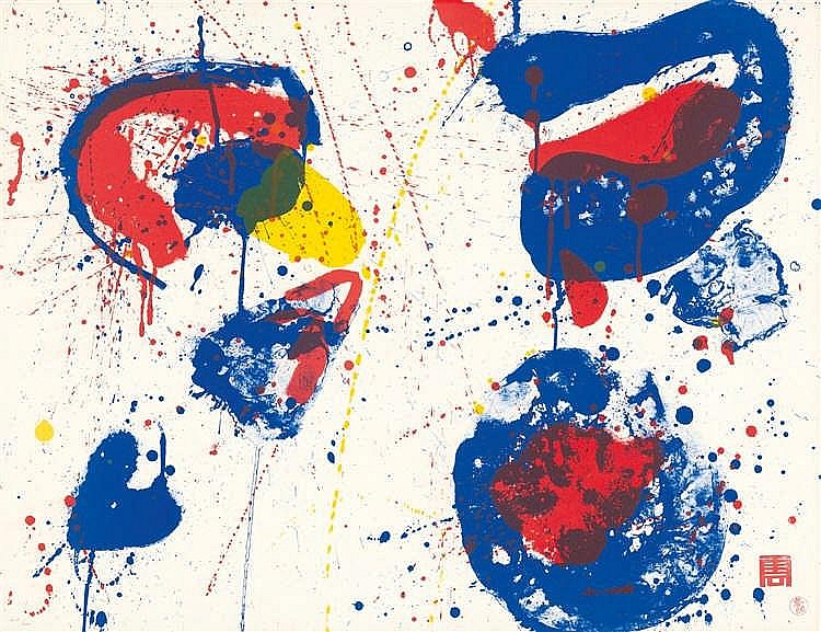 Sam Francis – Hurrah for the Red, White and Blue