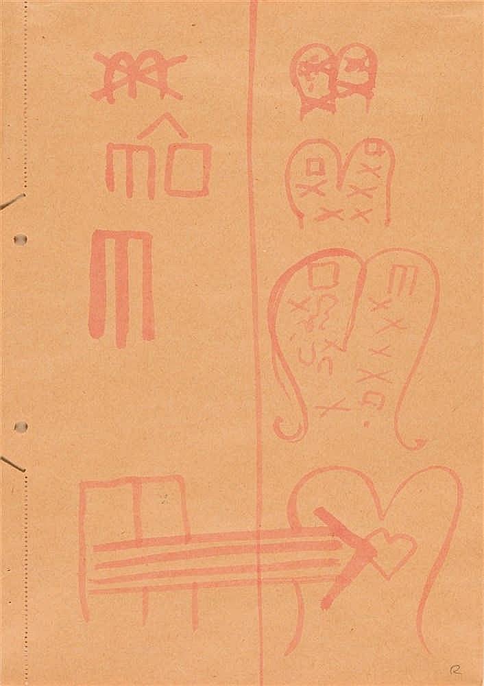A. R. Penck – 2 Bll.: Ohne Titel