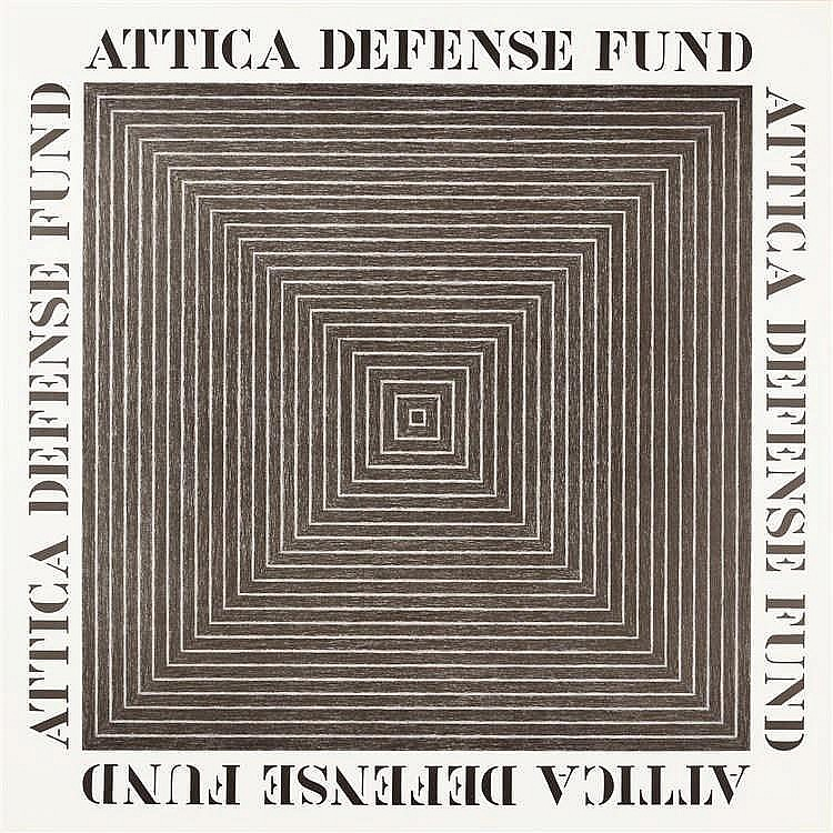 Frank Stella – Plakat: ATTICA DEFENSE FUND