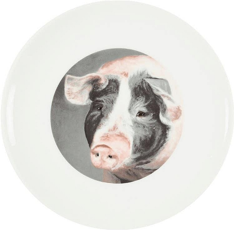 Karin Kneffel – Folge von 4 Objekten: Tierporträts