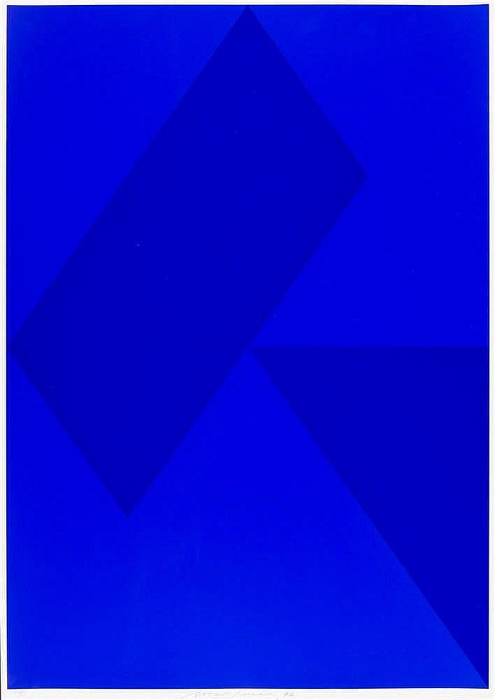 Almir Da Silva Mavignier – Komposition in Blau