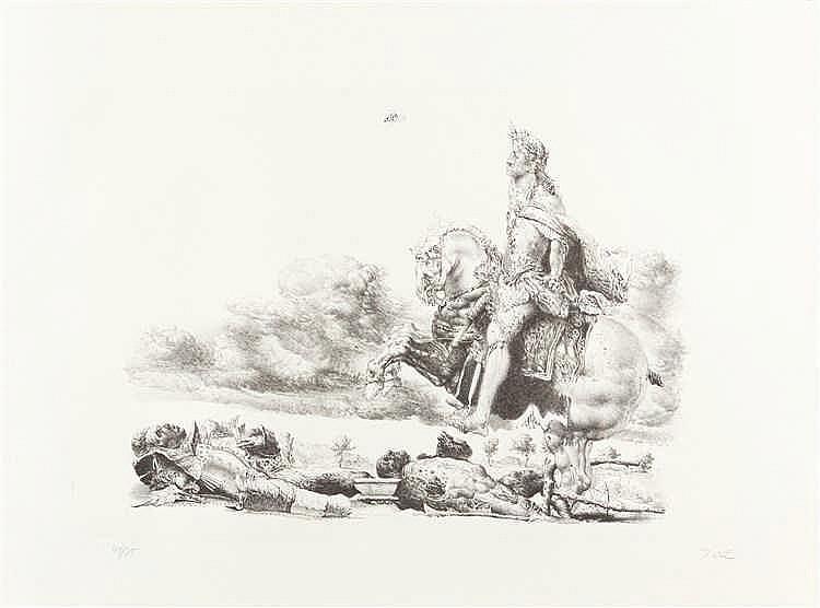 Werner Tübke – Folge von 10 Bll.: Werner Tübke Lithografien
