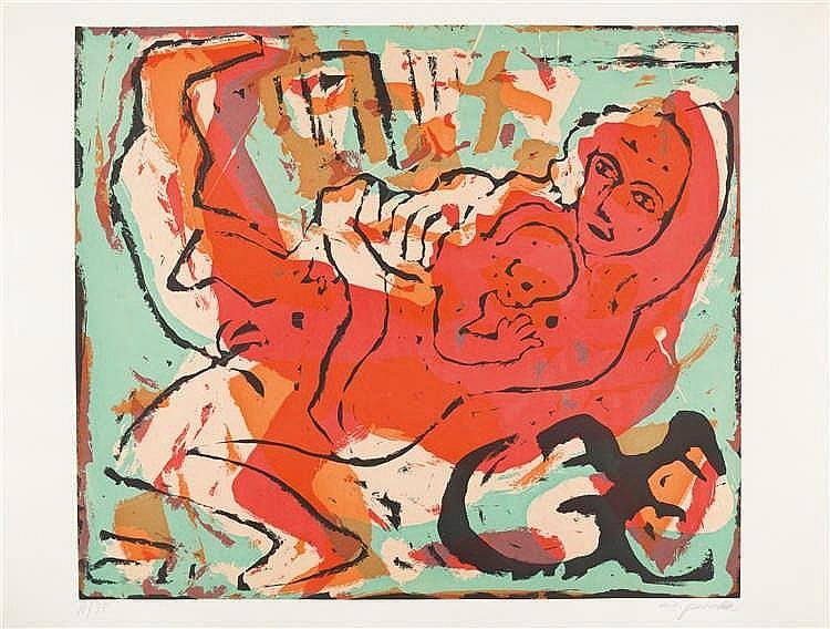 A. R. Penck – Frau und Kind