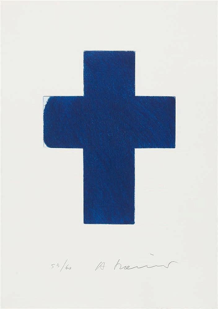 Arnulf Rainer – Ohne Titel (Blaues Kreuz)