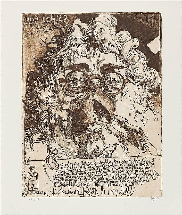 Horst Janssen – Selbst mit Pappnase