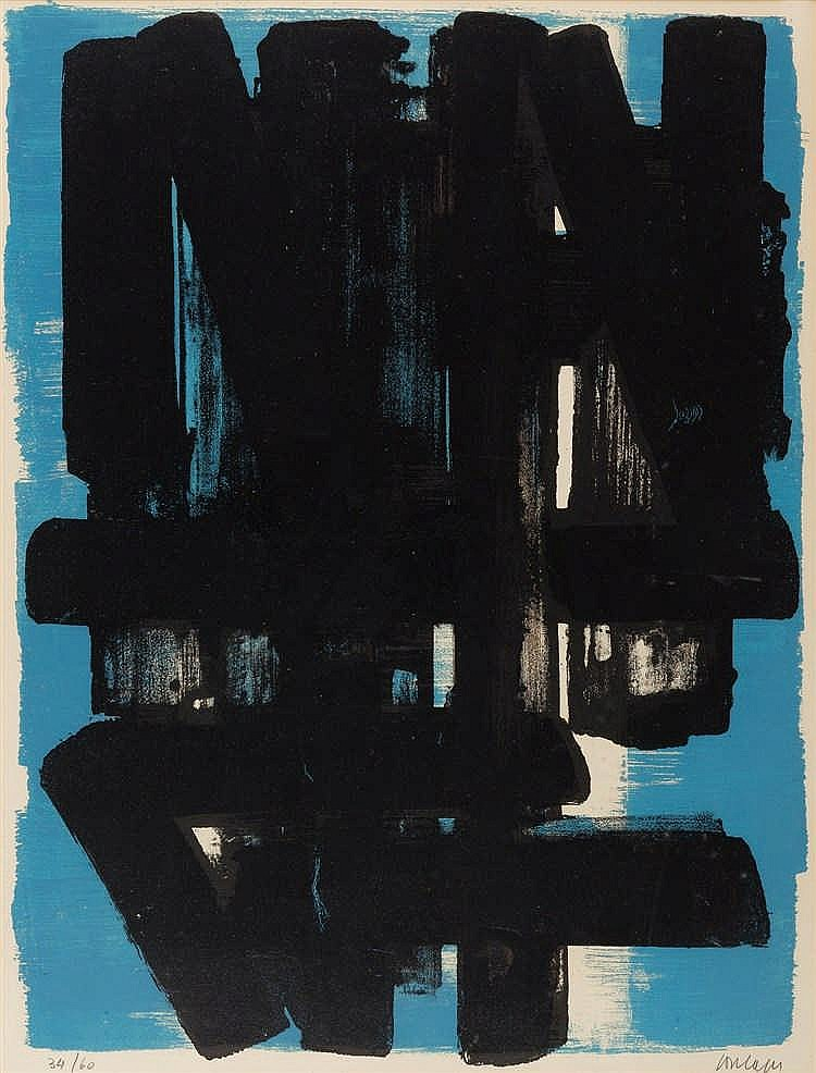 Pierre Soulages – Lithographie n° 5
