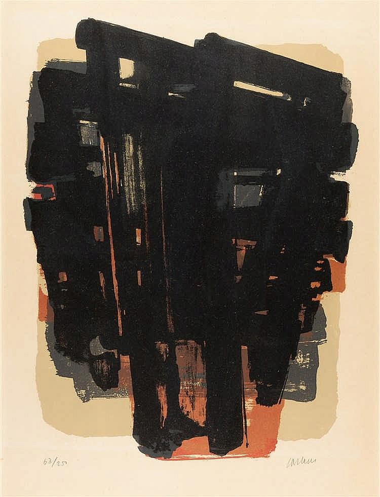 Pierre Soulages – Lithographie n° 8