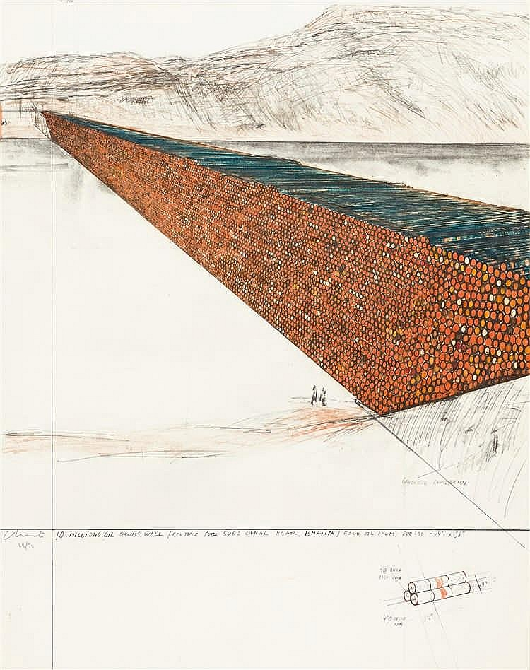 Christo (Christo Javacheff) – 10 Millions Oil Drums Wall