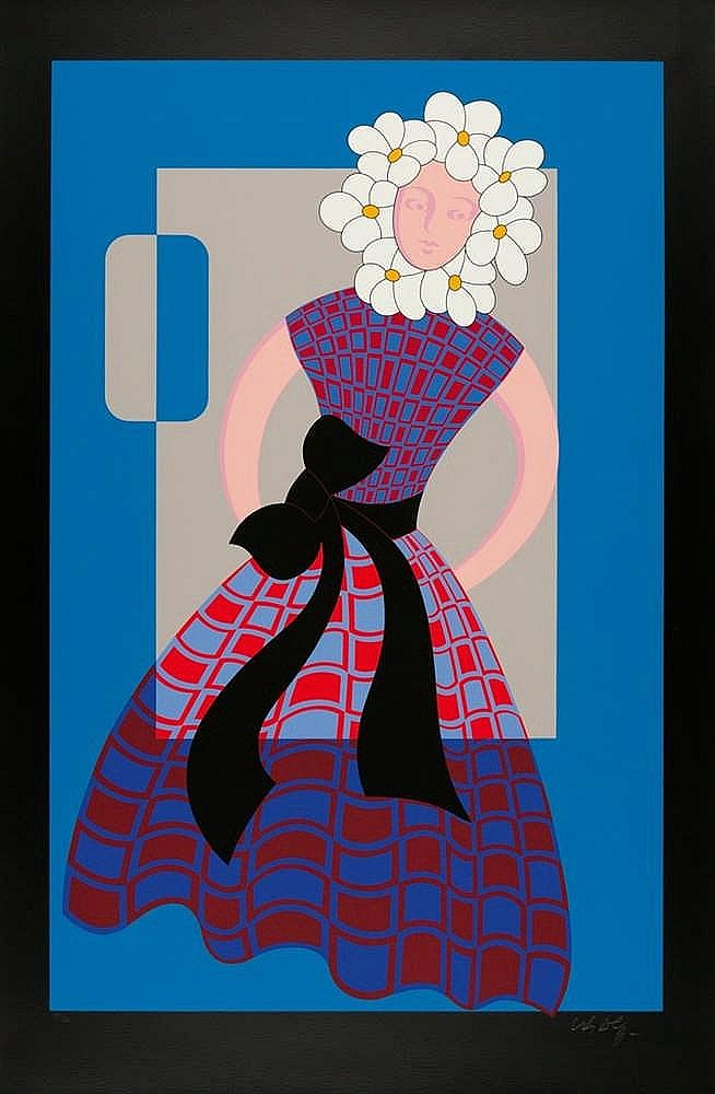 Victor Vasarely – Flower girl