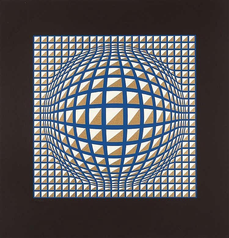 Victor Vasarely – 2 Bll.: Terz (large) - Terz (petit)