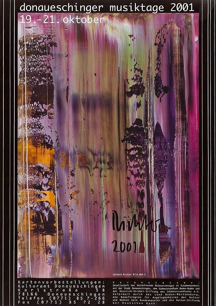 Gerhard Richter – Plakat: Donaueschinger Musiktage 2001