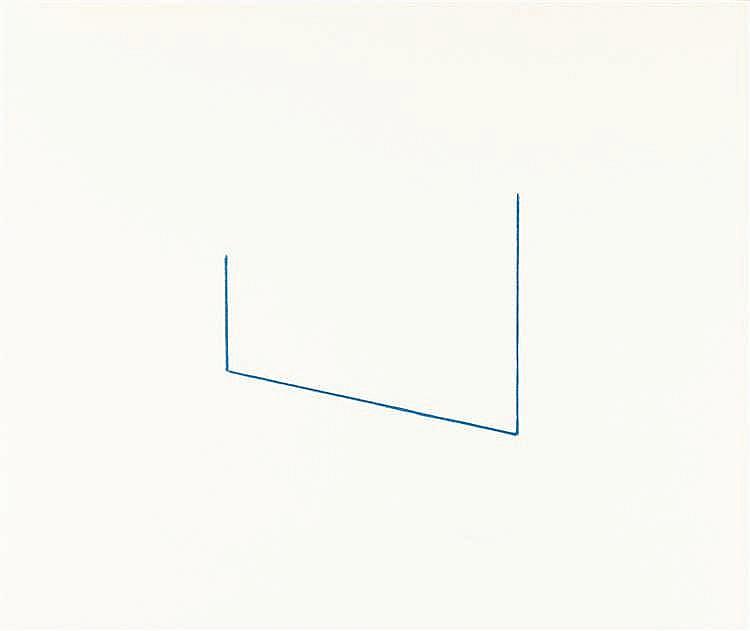 Fred Sandback – Folge von 6 Lithographien