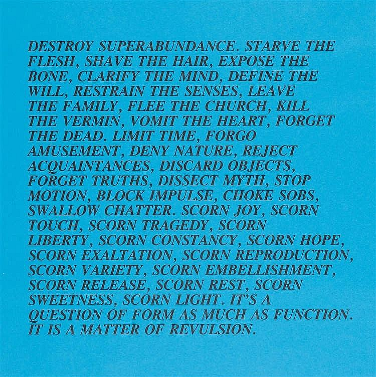 Jenny Holzer – Folge von 12 Bll.: Truisms and Essays