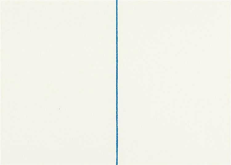 Fred Sandback – Bl. 1 aus: Folge von 6 Lithographien
