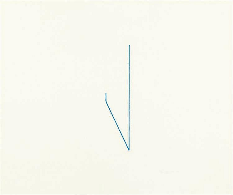 Fred Sandback – Bl. 2 aus: Folge von 6 Lithographien