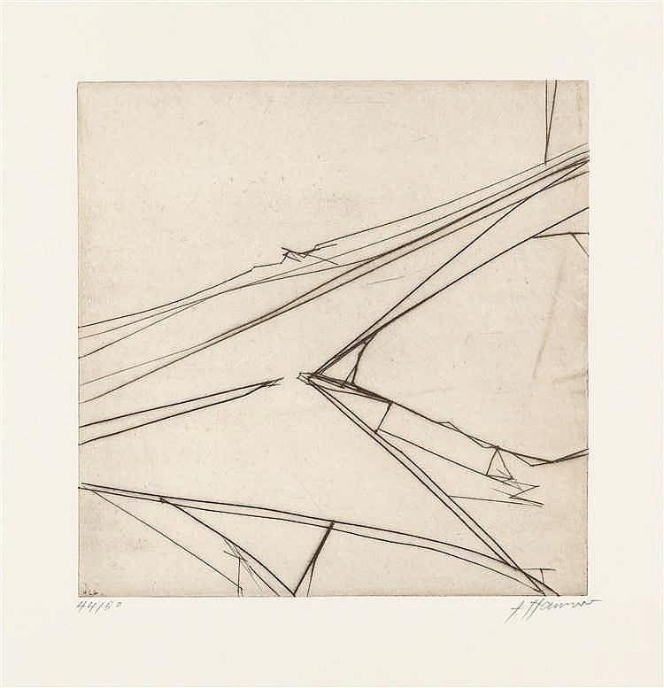 Erich Hauser – 2 Bll.: Ohne Titel