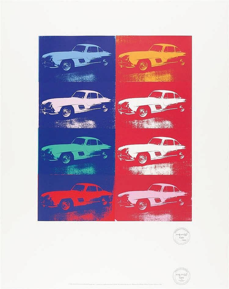 Nach Andy Warhol – Cars Mercedes 300 SL