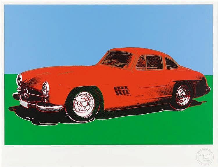 Nach Andy Warhol – Mercedes 300 SL Gullwing