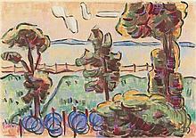 Karl Schmidt-Rottluff – Netze am See (Lebasee)