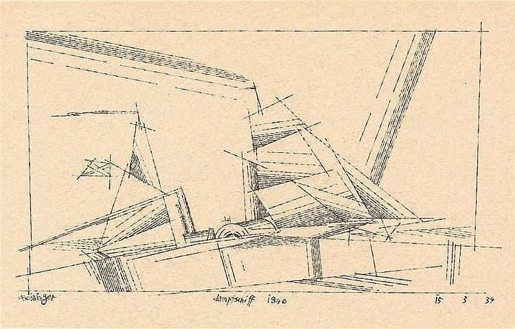 """Lyonel Feininger – """"Dampfschiff 1840"""""""