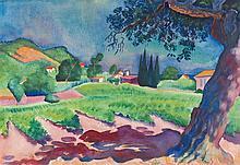 "Conrad Felixmüller – ""Landschaft am Mittelmeer"""