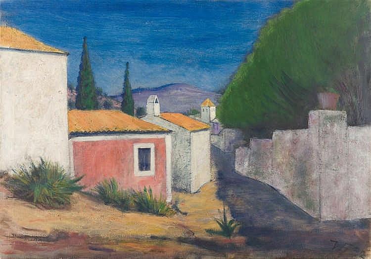 Werner Heldt – Häuser in Andratx auf Mallorca