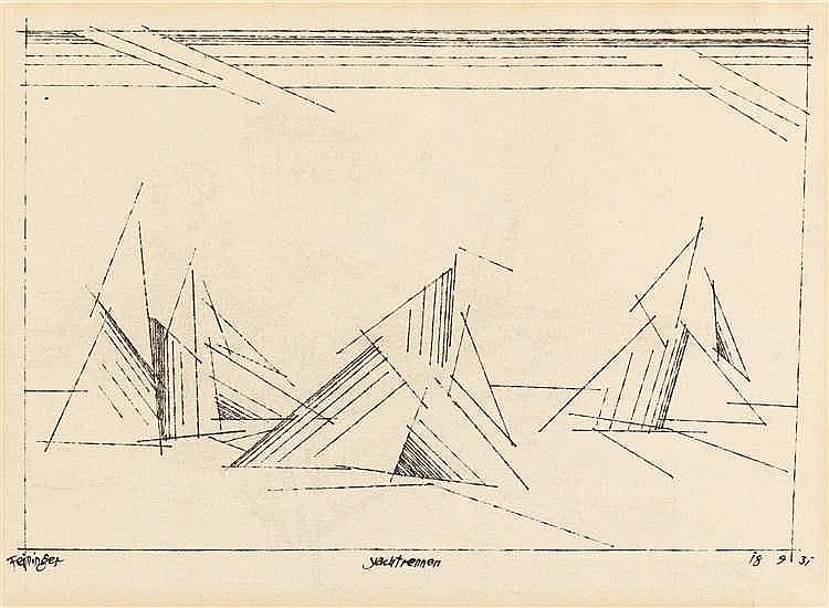 "Lyonel Feininger – ""Yachtrennen"""