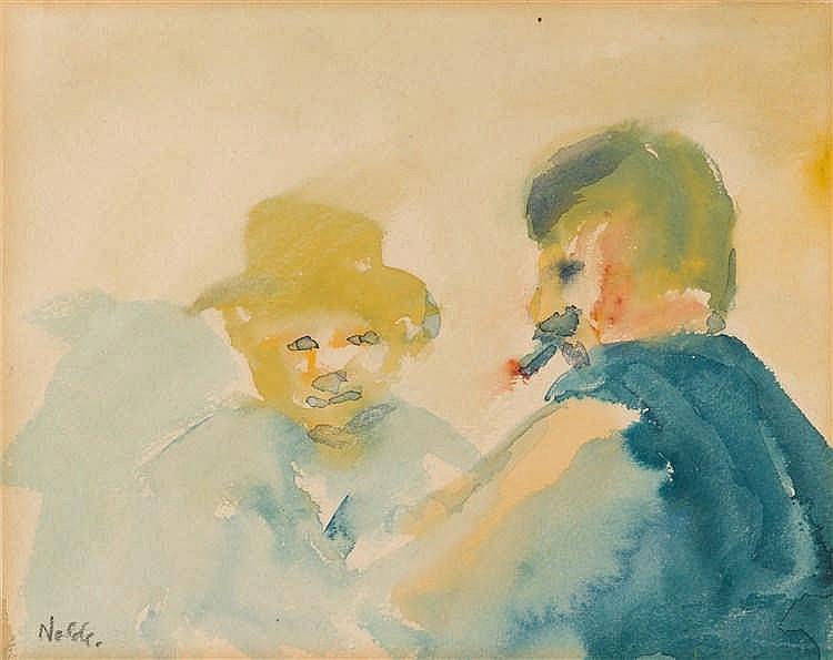 Emil Nolde – Zwei Bauern (Unterhaltung)
