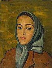 André Derain – Portrait de Geneviève, au foulard, nièce de l'artiste
