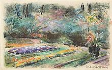 Max Liebermann – Die Blumenterrasse im Wannseegarten nach Nordwesten