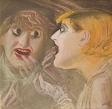 Karl Hubbuch – Sich schminkende Frau