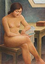 Georg Schrimpf – Mädchen mit Spiegel