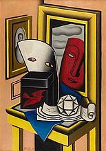 Jean Metzinger – Nature morte, miroir et masque´
