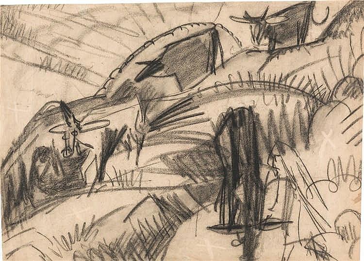 Ernst Ludwig Kirchner – Absteigende Kühe