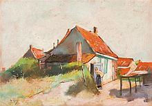 Lesser Ury – Häuser mit roten Dächern (Holland)
