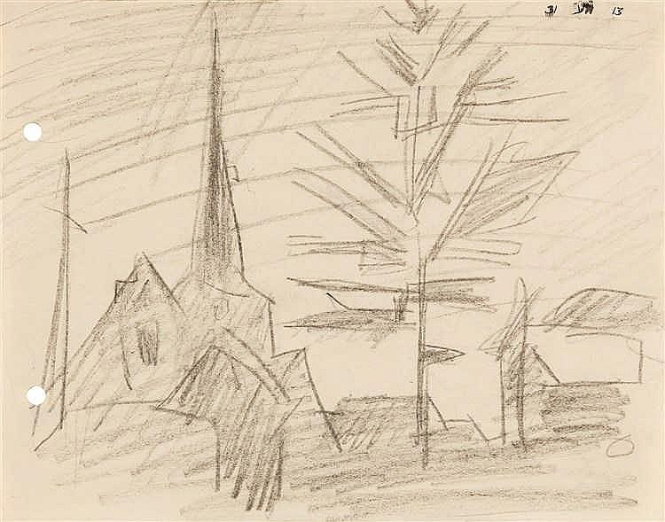 Lyonel Feininger – Kirche und Baum III