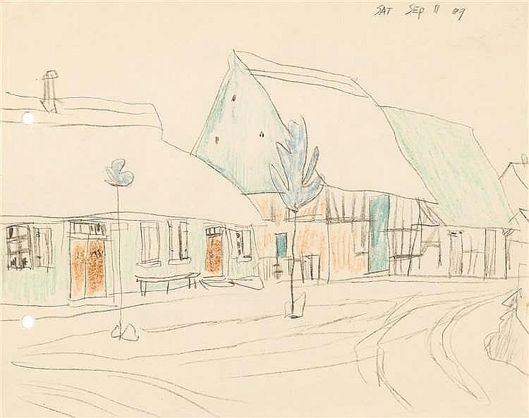 Lyonel Feininger – Dorfstraße auf Usedom