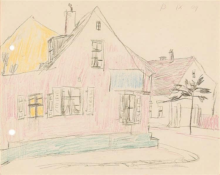 Lyonel Feininger – Häuserecke auf Usedom