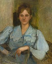 Max Slevogt – Bildnis einer jungen Dame